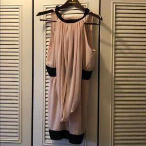 Top shop dress with drape detail